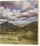 Tilt-shift Mountain Road Wood Print