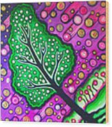 Tilted Into Cosmos Wood Print by Brenda Higginson