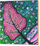 Tilted Into Snow Wood Print by Brenda Higginson