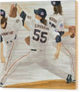 Tim Lincecum Study 2 World Series Wood Print