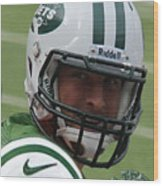 Tim Tebow - New York Jets Florida Gators - Timothy Richard Tebow Wood Print by Lee Dos Santos