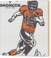 Tim Tebow 1 Wood Print by Jeremiah Colley