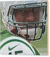 Tim Tebow Art Deco - New York Jets -  Wood Print by Lee Dos Santos