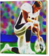 Tim Tebow Magical Tebowing 2 Wood Print