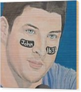 Tim Tebow Wood Print