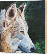 Timberwolf Wood Print