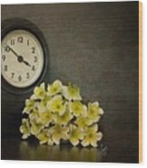 Time Wood Print