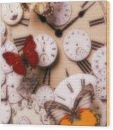 Time Flies Wood Print