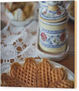 Time For Waffle Wood Print