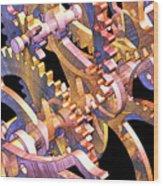 Time Mechanics V1 Wood Print by Michael Geraghty