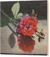 Time Of Roses Wood Print