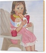 Time Out For Ice Cream Wood Print