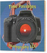 Time Passages Logo Wood Print