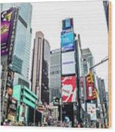 Time Square Wood Print