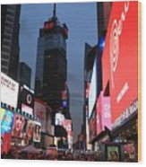 Time Square New York City Wood Print