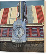 Time Theater Marquee 1938 Wood Print