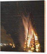 Time To Burn Wood Print