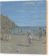 Time To Go Home - Porthgwarra Beach Cornwall Wood Print