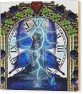 Time Travel Fairy Wood Print