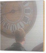 Time Watching Wood Print