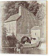 Timeless-clinton Mill N.j.  Wood Print