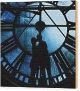 Timeless Love - Midnight Blue Wood Print