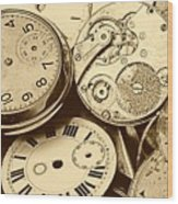 Timepieces Wood Print by John Short