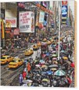Times Square 1 Wood Print