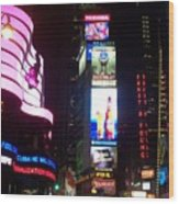 Times Square 1 Wood Print