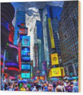 Times Square 7453 Wood Print