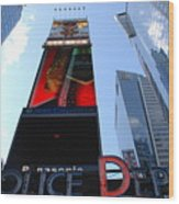 Times Square Cops Wood Print