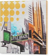 Times Square Little Brazil Wood Print