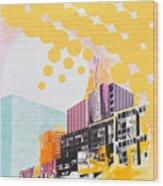 Times Square Milenium Hotel Wood Print