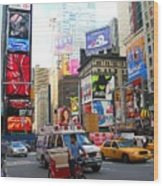 Times Square New York Wood Print
