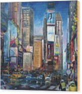 Times Square New York City Wood Print