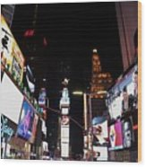 Times Square New York City New Years Eve Wood Print