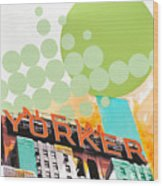 Times Square New Yorker Wood Print