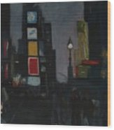 Times Square Night Wood Print