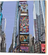 Times Square Nyc Wood Print
