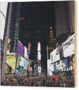 Times Square On A Tuesday. Wood Print