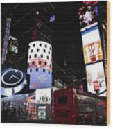 Times Square On News Year Eve Wood Print