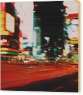 Times Square Painted Wood Print