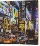 Times Square Pano Wood Print