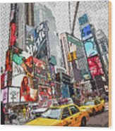 Times Square Pop Art Wood Print