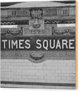 Times Square Station Tablet Wood Print