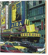 Times Square Visitors Center Wood Print