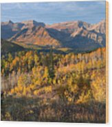 Timpanogos Autumn Sunrise Wood Print