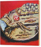 Tim's Glove Wood Print