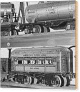 Tin Toy Trains Wood Print