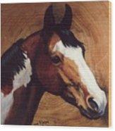 Tingeys Fancy   Paint Horse Wood Print